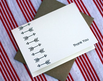Tribal Notes #1 - A2 Printable Thank You Card (One Design)