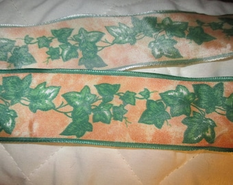 brass 8 meters color Ivy green and orange Ribbon