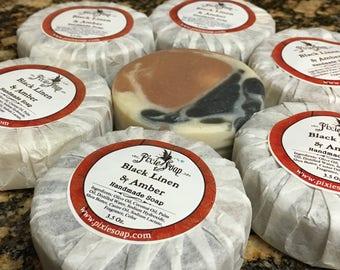 Black Linen & Amber Handmade Vegan Soap