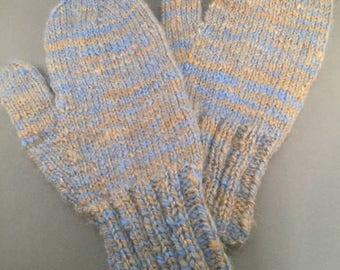 Toasty handspun, handknit llama and alpaca mittens