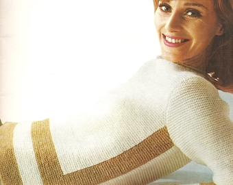 Garter stitch sweater knitting pattern