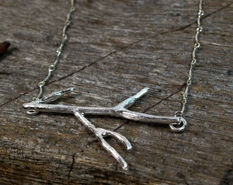 Twig Necklace - Silver Twig Necklace - Gold Twig Necklace - Silver Branch Necklace - Nature Inspired Necklace
