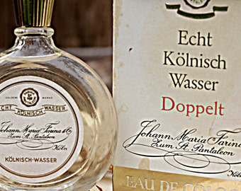 Vintage perfume, Eau de cologne, Perfume bottle, Vintage Bottle, Vintage Fragrance, Johann Maria Farina olympische spiele 1972 münchen