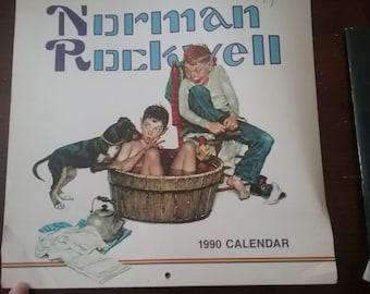 Vintage Norman Rockwell 1990 Calendar