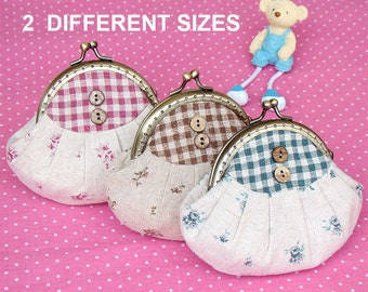 Pleated Frame Coin Pouch Purse PDF Sewing Pattern & tutorial