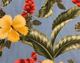 SALE!  Uphoplestery Hawaiian Print Canvas (Yardage Available)