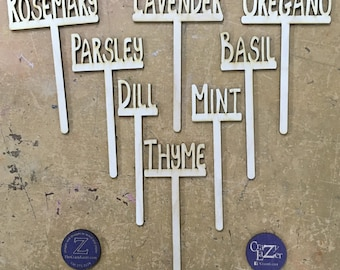 Set of 6 - Herb Markers / Garden Markers / Plant Markers / Herb Sticks / Markers for Plants (please list the 6 you want at checkout)