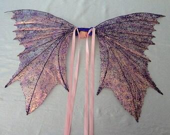 Fee Flügel-schillernde-lila & Rosa Leidenschaft (Massanfertigung auf Anfrage)