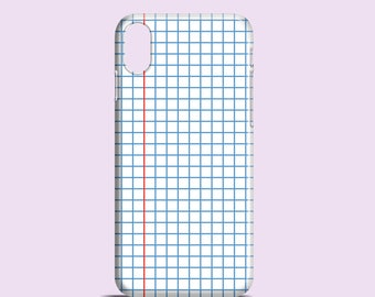 Squared Notebook phone case / school iPhone X case / iPhone 8 / iPhone 7 / Samsung Galaxy S7, Samsung S6, S6 Edge, S5 / iPhone 7 Plus