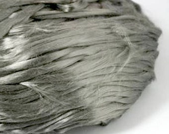 Stainless Steel Fiber 6um - Etextiles - Create Conductive Yarn - 1oz - unusual spinning fiber or felting fiber  slightly magnetic real metal