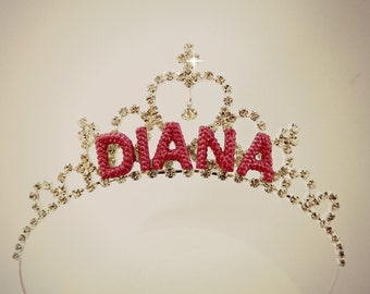 Personalized Crown, Personalized Tiara, Personalized Kids Gift, Birthday Girl Crown,Princess Tiara, Kids Crown,Birthday Tiara,Birthday Crown