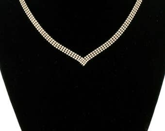 Vintage Italy 925 Sterling Silver Beads Beaded Chain Necklace NC 854 - E