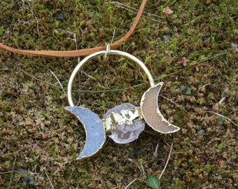 Goddess Moon pendant
