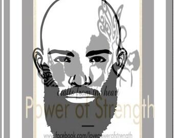 Black bald bearded man !!!