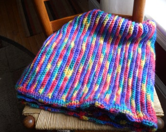 BABY AFGHAN LAP Blanket Crochet Starbrights