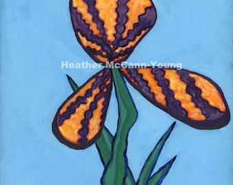Iris (original acrylic painting)