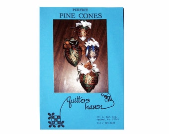 Perfect Pine Cones Quilters Haven, Ribbon Crafted Pine Cones, Instructions