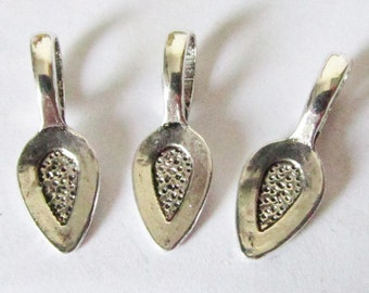 Bails - 30pcs Antique Silver Bail Beads Charms and Pendants Drop 7x21mm A109-1