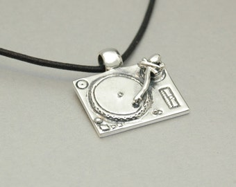 The Turntable DJ Pendant - Sterling Silver - Free Shipping in the USA
