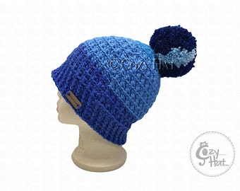Ready to ship! Cozy Cake Beanie Hat. Hand Crochet Beanie. Size 6 to 8 yr Kids Hat. Unisex