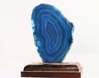Dyed Agate Slice ( Blue ) - FREE GIFT with EVERY purchase