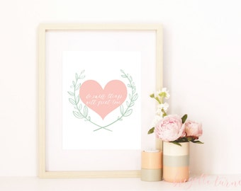 Wall Art Print | Girls | Room | Nursery | Do small things with great love
