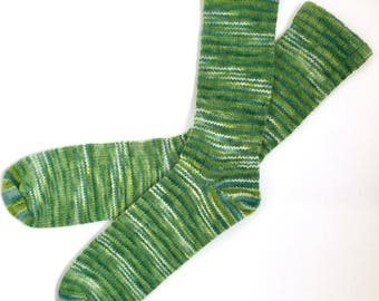 Handmade Wool Socks 452 -- Men's Size 11-13
