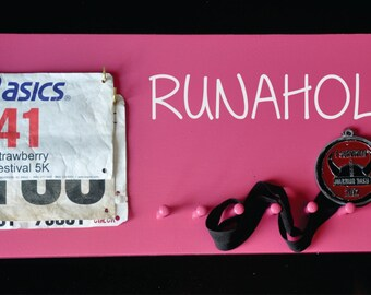 Running Bib and Medal Holder FREE Personalization