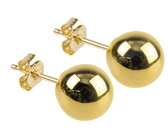gold earrings, 9ct earrings, small studs, petite studs, yellow gold studs, first earrings, pierced studs, gold stud earrings, gold studs,