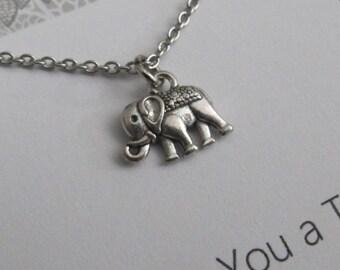 Best Friend necklace-Elephant-Elephant necklace-Elephant jewelry-friendship necklace-charm necklace-friendship charm, gift for friends