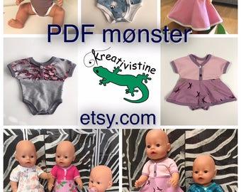 Sy dukkeklær av restestoff mønsterpakke 1