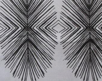 TULUM INK black  ikat designer, drapery/bedding/upholstery fabric