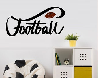 Football with brown Football; Wall or Window