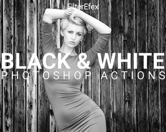 FilterEfex Black & White Photoshop Actions