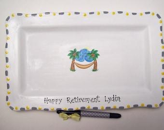 Ceramic Signature Plate for RETIREMENT