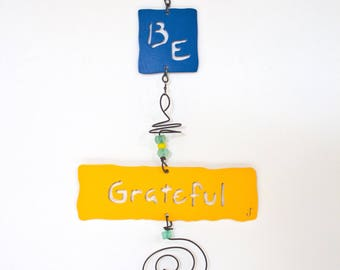 Be Grateful Affirmation Chime
