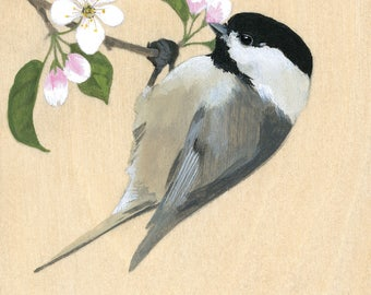 "Reproduction of original ""Chickadee"" painting"
