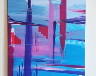 50×70cm acrylic abstract painting