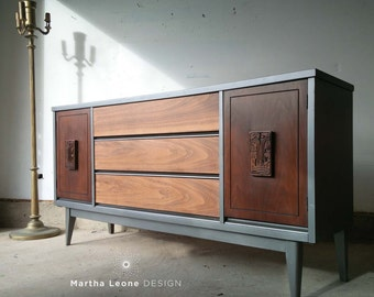 SAMPLE Bassett Credenza /  Bassett Buffet from Mayan Collection
