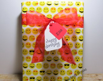 EMOJI Gift Wrap, All Occasion EMOJI Wrapping Paper, 10 feet long x 24 inches wide