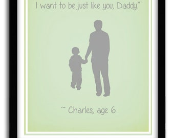 Christmas Gift for Dad From Son, Newborn Baby Boy Print, Father's Day Gift, Personalized gift, Custom quote