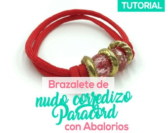 Brazalete de Nudo Corredizo Paracord con Alaborios Ebook PDF con Video Tutorial