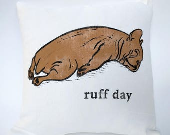 Ruff day cushion cover