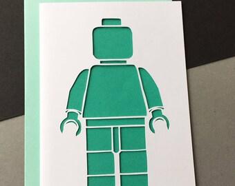 Lego Man Card