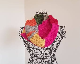 Pure wool infinity scarf/cowl.