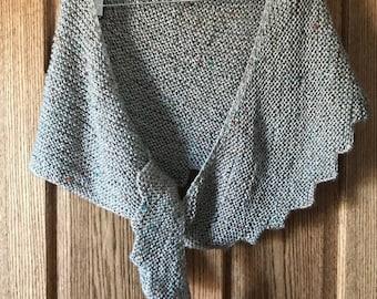 Handmade Asymmetrical Knit Scarf/Wrap