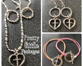 Faith Cross My Heart Jewelry Bundle