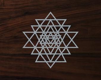 "Sacred geometry sticker Yantra die-cut decal  (3""x3"")"