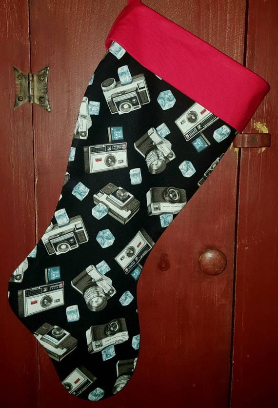 Instamatic Camera Christmas Stocking