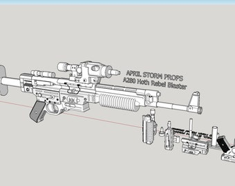 A280 Hoth Rebel Blaster from Star Wars the empire strikes back. 3D print files